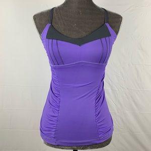 Lululemon / Happy Heat Tank Purple Gray Ruched